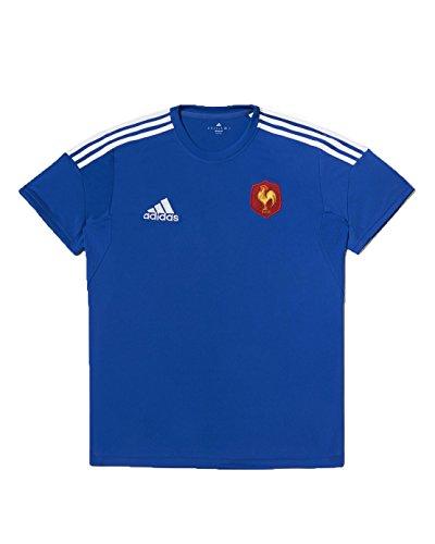 Adidas Francia Performance FFR Maglietta Maniche Corte Uomo, Uomo, T-shirtfrance Performance Bleu - Ffr, blu, XL