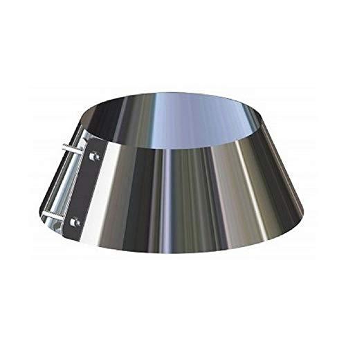 Scossalina copriforo in acciaio inox per canna fumaria (DN 100)