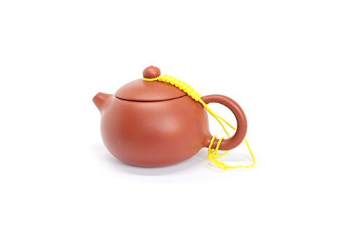 TEA SOUL Zisha 110 ml, Typical Chinese teapot Made of a Particular red Clay from Yixing, Ceramic, Brown
