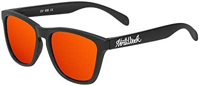 Northweek Regular Matte Black - Red Polarized - Gafas de sol unisex, negro