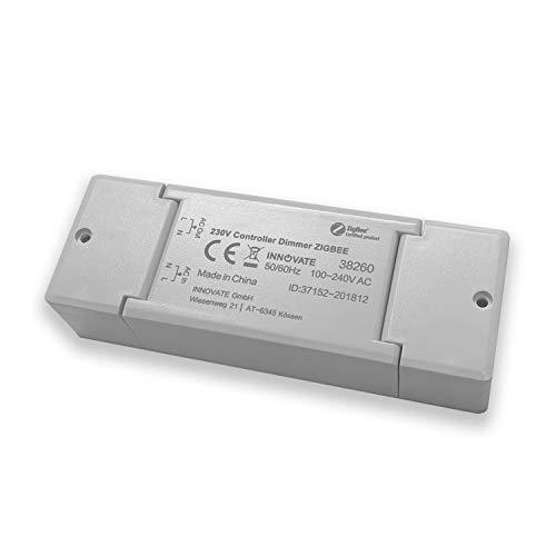 230V ZIGBEE Dimmaktor - 200 Watt - dimmen per Funk - ZLL & ZHA - WiFi - kompatibel u.A. mit Osram Lightify®, IKEA TRÅDFRI® - Alexa, Siri, Google Assistant von INNOVATE®