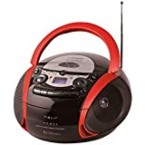 NEVIR RADIO CD CASSETTE CON USB COLOR ROJO MODEL NVR-482UCM