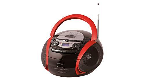 NEVIR RADIO CD CASSETTE CON USB COLOR ROJO MODEL NVR-482UCM, usado segunda mano  Se entrega en toda España