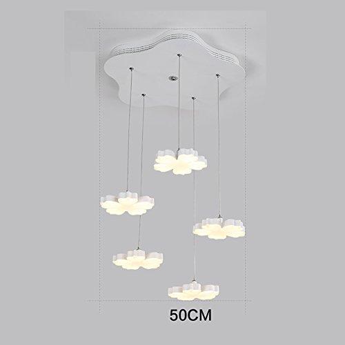 LXSEHN Moderner Minimalistischer Kreativer Schmiedeeisenpflaumenleuchter, Warmer Wohnzimmerschlafzimmerstudienrestaurant-Bartischleuchter Pendelleuchte Lampenlaternen (Farbe : Warmes Licht-5 lamp) (Licht 5 Anhänger Park)
