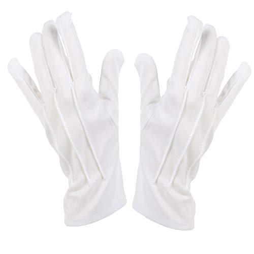 Zauberer / Pantomime / Mickey Kostüm Polyester Handschuhe ()