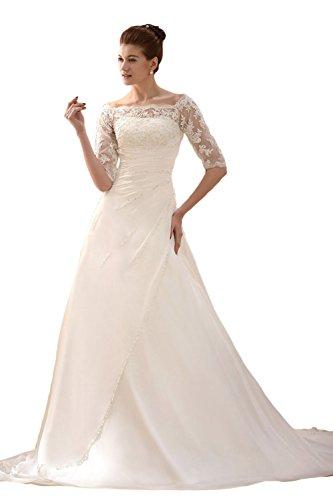 Brautkleid A Linie Tüll und Spitze