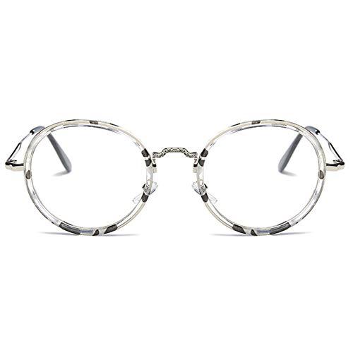 CFLFDC Sonnenbrillen Persönlichkeits-auge Flat Spiegel Retro-rahmen Tintengestell Silbergestell (Taschenklatsch)