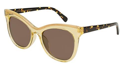 Stella McCartney Sonnenbrillen FALABELLA SC0129S Yellow/Brown Damenbrillen