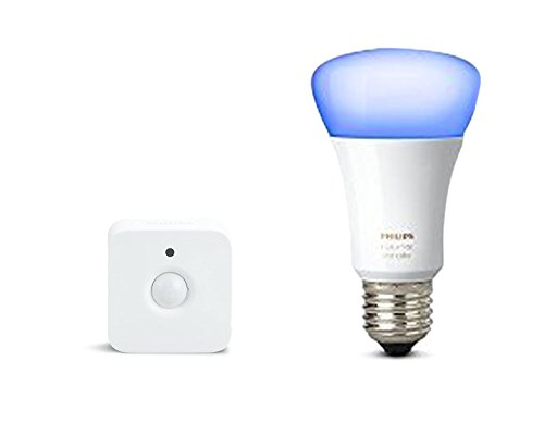 Philips Hue White and Color Ambiance Lampadina Singola E27, Versione Richer Colors, 10 W Equivalente 60 W + Hue Sensore di Movimento per Accensione e Spegnimento