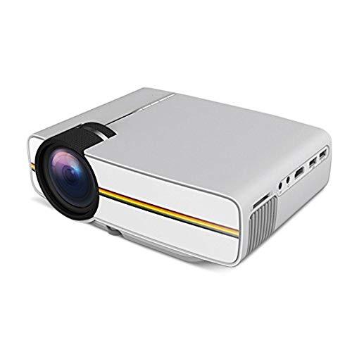Video-Projektor, Home Entertainment Full 1080P HD 1000 Lumens LCD Display Home Theater Projektor für Film Video Games Laptop Smartphone (Weiß) -