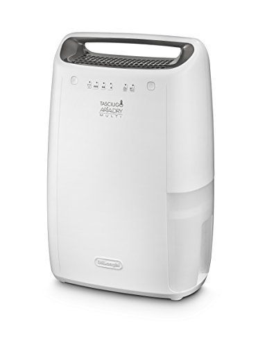 DeLonghi DEX14 - Deshumidificador (14 L, BioSilver, silencioso, funcion secado), color blanco
