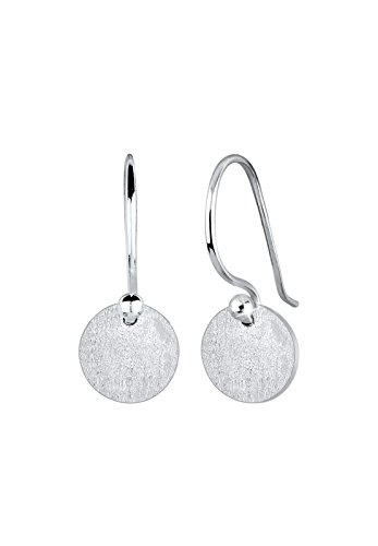 Elli Damen Echtschmuck Ohrringe Kreis Geo Trend Basic Matt in 925 Sterling Silber