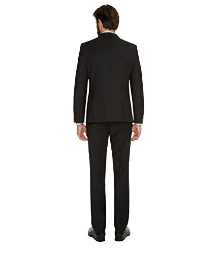 Michaelax-Fashion-Trade - Pantalon de costume - Uni - Homme Noir - Noir