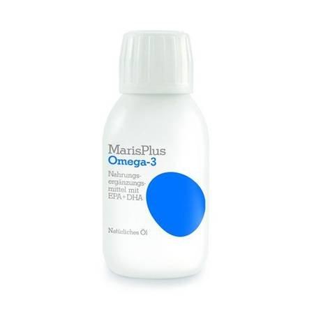 MarisPlus Omega-3 -flüssiges Fischöl, Lemongeschmack 150ml