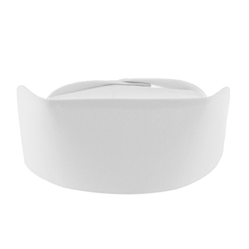 MagiDeal Krankenschwester Haube Zubehör Ärztin Arzt Uniform Kappe - Weiß (dick), wie ()