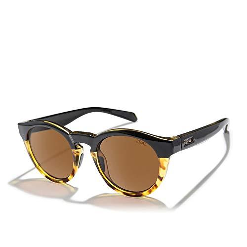 Zeal Crowley Sunglasses One Size Black Tortoise ~ Copper Polarized