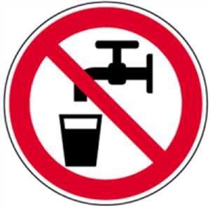 Schild Kein Trinkwasser 10cm Ø PVC gemäß ASR A 1.3/BGV A8/DIN 4844