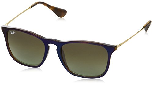 Ray-Ban RAYBAN Herren Sonnenbrille 4187, Transparent Sp Blu/Green Gradient Brown, 54