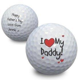 personalisierbar I Heart My Golf Ball–Ein perfektes Geschenk für Vatertag,