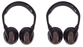 2Paar AC3640vpl2591Fond-Entertainment Kopfhörer Dual Channel flach zusammenklappbar Kabellose IR Infrarot - Dual-channel-kopfhörer