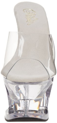 Pleaser Moon, Plateau femme Transparent