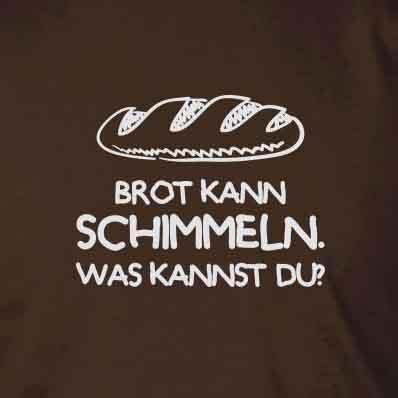 Brot kann schimmeln - Stofftasche / Beutel Hellgrün