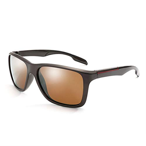 YYXXZZ Sonnenbrillen Herren Polarized Sunglasse Coating Drive Nachtsicht Eyewea, braun