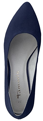 Tamaris Schuhe 1-1-22475-28 bequeme Damen Pumps, Sommerschuhe für modebewusste Frau, Navy