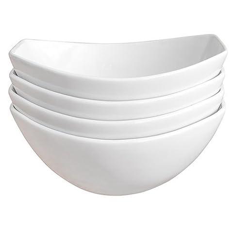 Over & Back Microwave and Dishwasher Safe Porcelain Side Dish/Serving Bowls, 4-Pieces