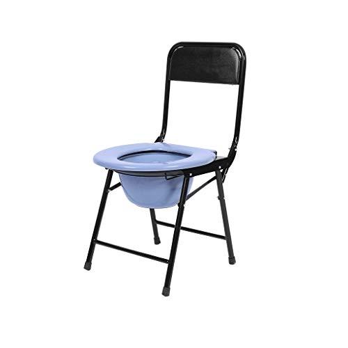 Standard-klappbett (M-JJZX Klappbett Kommode, Medizinischer Edelstahl Mit Gepolstertem Sitz, Tragbare Toilette Für Erwachsene Kommodenstuhl (Farbe : B))