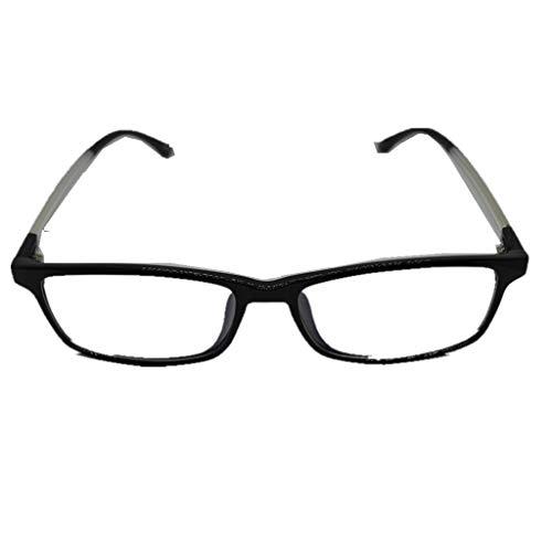 Otfi ZRSHA Student Brille Extra Schmaler Rahmen! Slim Rechteck Nerd Clear Brille!Negatives Ion !schütze die Augen ! Müdigkeit lindern ! High-Tech-Brille!