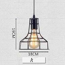 ZLL Luces creativas del arte de la jaula de pájaro del hierro de Taiwán de la barra de la personalidad de la lámpara industrial retra nórdica del restaurante 5pcs , warm light , A