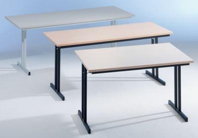 Klapptisch, mit extra starker Platte - Höhe 720 mm - 1200 x 800 mm, Gestell schwarz, Platte Ahorn-Dekor - Klapptisch Konferenztisch Mehrzwecktisch