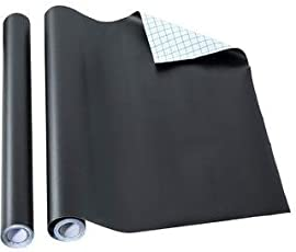 KrivaBlackboard Sticker 60Cm X 200Cm Chalkboard Wall Sticker for Home School and Office Adhesive Removable Sticker Black