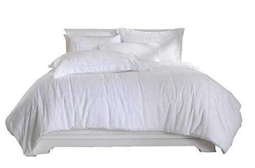 100/% Coton 500 fils blanc Continental carré 65cm x 65cm Taie Oreiller Paire