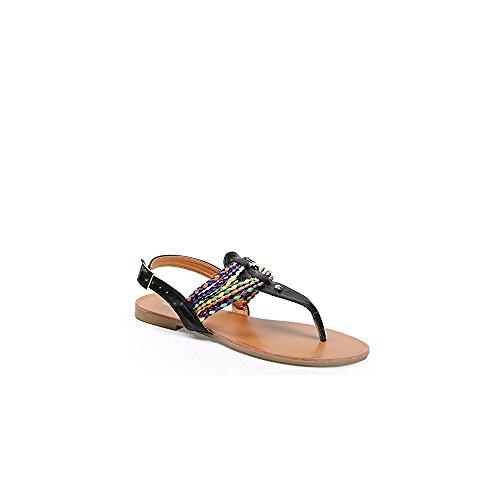 Con De Planas Ideales Negro Color Maiane Tiras Los Y Zapatos Sandalias Trenzadas BqIWZ1