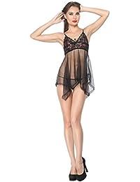 Diovanni Flirting with Passion - Deep Emotion Nightwear (Black)