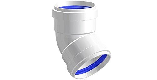 Courbe 45° d. 80F F aluminium blanc–pour chaudière
