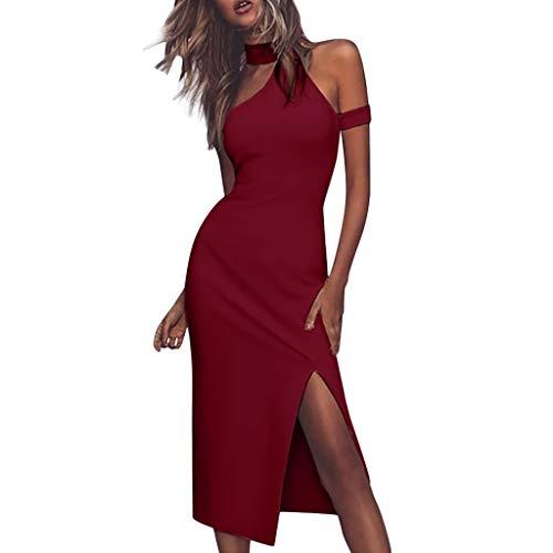 Proumy Vestidos&Faldas Damen Kleid, Comprar más Con descuento en Proumy, Rot, Comprar más Con descuento en Proumy Medium (Vestidos Descuento De)