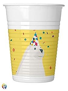 Procos PR87882 - Juego de 8 vasos de plástico, multicolor