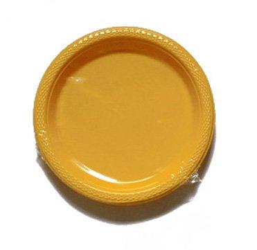 552285–09Kunststoff Teller, sonnengelb, 22,8cm (Rosa Und Gelbe Party Supplies)