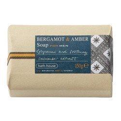 Bath House Bergamot & Amber Soap for Men 150g bar by Bath House