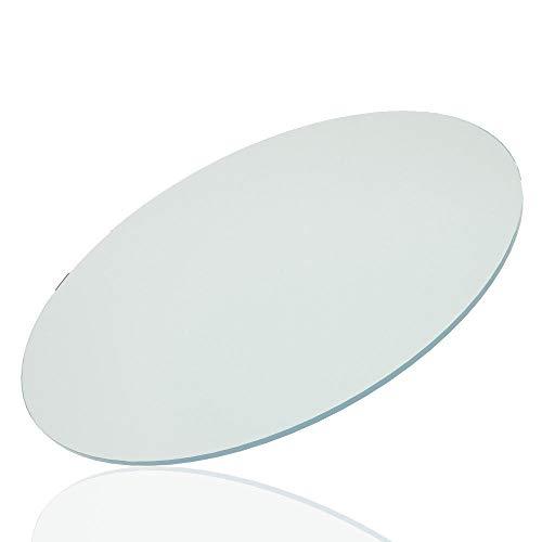 PANNOBELLO Glasplatte Rund 1200 mm x 10 mm Glasscheibe Sicherheitsglas Klarglas Klar Tischplatte -