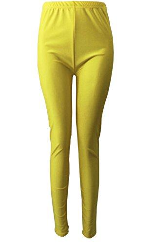 Damen Leggings Jegging Hosen Strumpf Blickdicht Stretchy Spandex YOGA Hosen Fitness Sport in verschiedenen Farben (gelb) (Spandex Gelb)