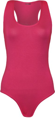 WearAll - Damen Ärmellos Racerback Body Vest Top - Cerise - - Rosa Racer Kostüm
