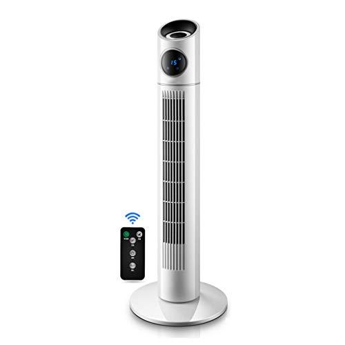 CYLQ Turmventilator Oszillierend Mit Fernbedienung, 40W Electric Slim Kühlung Ventilator 3 Gang 3 Wind Modus 15H Timer Zuhause Büro Vertikal Blattlos Weiß (Farbe : Weiß) (Slim-tower-gehäuse)