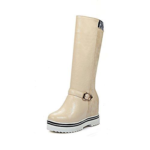 Guoar , chaussures compensées femme Beige