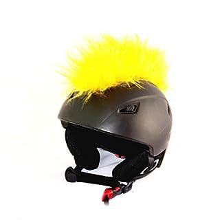 Helm-Irokese für den Skihelm, Snowboardhelm, Kinderskihelm, Kinderhelm, Motorradhelm oder Fahrradhelm - Das etwas auffälligere Helm-Cover - für Kinder und Erwachsene HELMDEKO (Gelb)