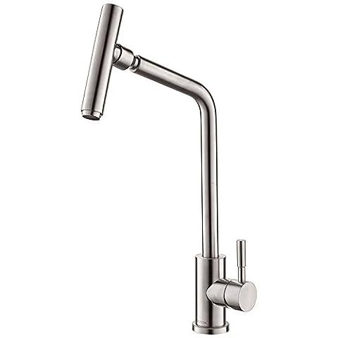 SDKIR-edelstahl - schüssel wasserhahn, warmen und kalten teller becken wasserhahn, mikrofon, das becken (Edelstahl-wandhalterung Sink)