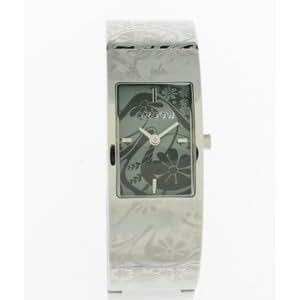 Oxbow - 4508401 - Montre Femme - Quartz Analogique - Cadran Carré Noir - Bracelet Acier avec Calligraphie